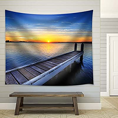 Peaceful Lake and Pier at Sunset Calmness Concept, With Expert Quality, Elegant Picture