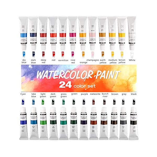H-B-24-Colors-Watercolor-Paint-Set-Aluminum-Tubes-12mlProfessional-Art-Painting-Watercolor-Paint-Non-Toxic-Safe-Premium-Quality-Painting-Kit-Perfect-Gift-for-Artists-Students-Beginners-Kids