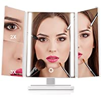 MiroPure Trifold 24-LED Lit Vanity Makeup Mirror