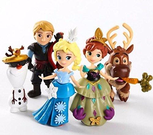 5pcs Frozen Olaf Elsa Anna Kristoff Sven Toys Figure Figurine Set Cake Topper (Girl Minion Costume In Stock)