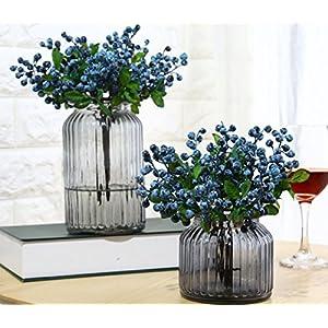 Mistari 10 Pcs Plastic Artificial Flowers California Berries Blueberry Fruit Fake Silk Flowers Home Decorative Party Wedding 14