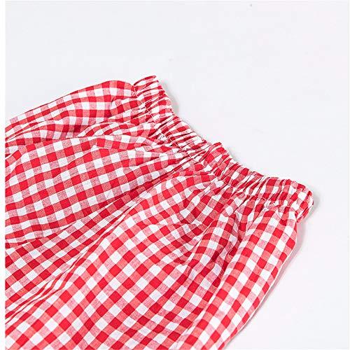 Rosso Check A Sonno Classico Nighty Pigiama Mmllse Donne Homewear Color Pantaloni Photo Pigiameria Bianco Modello Vestire Maniche Set Delle Vestito Lunghe Moda E Pigiama axFHXwPF
