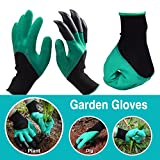 WEBSUN Garden Genie Gloves with Claws Waterproof Genie Gloves for Digging and Planting (Right Hand Claw)