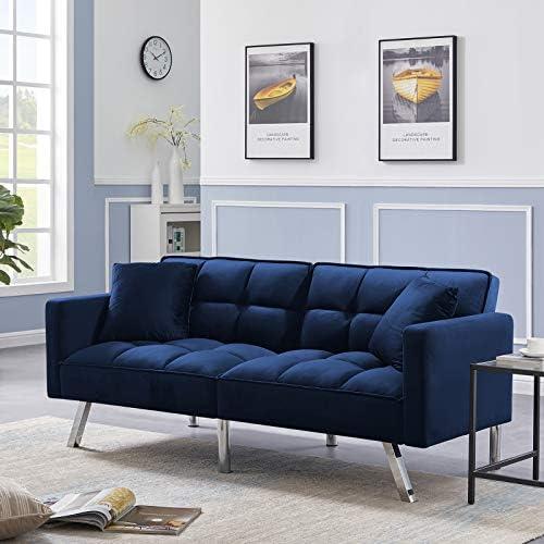 Olela Sleeper Sofa Bed Modern Tuft Futon Couch Convertible Loveseat Sleeper Reclining Sofa Bed Twin Size