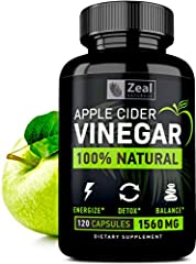 100% NATURAL, PURE, & RAW APPLE CIDER VINEGAR SUPPLEMENT    1500mg Pure Apple Cider Vinegar    60mg Cayenne Pepper    120 Capsules     REDUCE BELLY FAT AND LOOSE WEIGHT    ‣ Studies show that apple cider vinegar can reduce weight loss in as litt...