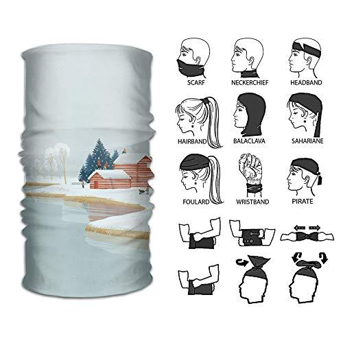 - Ivanfield Winter Cabin Outdoor Multi-use Seamless Headband Tube Bandana Headwrap Headscarves Fashion Magic Scarf