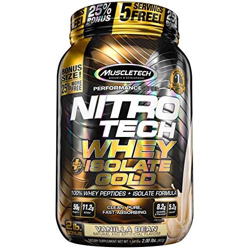MuscleTech NitroTech Whey Plus Isolate Gold, Vanilla Bean...