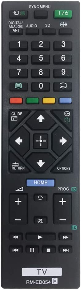 MYHGRC New Replacement TV Remote Control RM-ED054 for Sony TV Remote Control Fit for Sony Smart TV LCD//LED No Setup Required Universal Remote Control