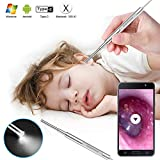 Digital Otoscope, Scopearound 2019 New Upgrade 3.9mm Ultra-Slim HD Ear Scope Ear Inspection Camera, Ear Otoscope Earwax Cleaning Tool with 6 Adjustable LED Lights for Android and Window