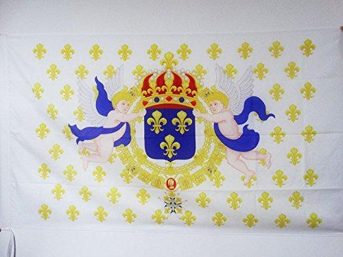 KING OF FRANCE FLEUR-DE-LIS FLAG 3' x 5' for a pole - FRENCH