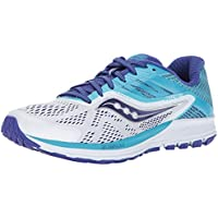 Saucony Ride 10 Men's or Women's Running Shoes (White/Blue)