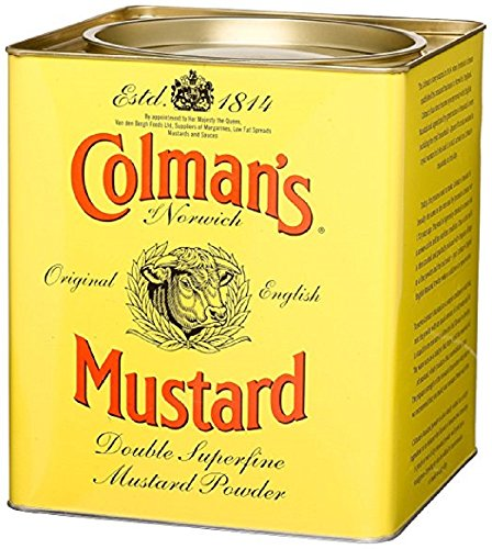 Colman's Double Superfine Mustard Powder, 4 Pound 6 Ounce Tin by Colman's