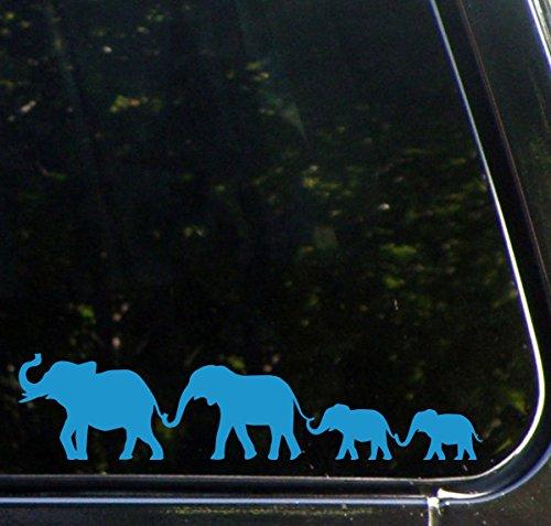 Yadda-Yadda Design Co. Elephant Family Walking D1 - Car Vinyl Decal Sticker - Copyright (8.5