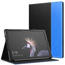 MoKo Microsoft New Surface Pro 2017 Case - Slim Folding Cover Case for New Surface Pro 2017 / Surface Pro 4 / Surface Pro 3 Tablet, Compatible with Type Cover Keyboard, BLACK & BLUE