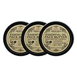 Essential Oil Face Butter, with Lavender, Frankincense, and Tea Tree Oil, For Irresistibly Soft, Smooth, Clear Skin 100% Natural, Non GMO, Cruelty Free (Pack of 3) For Sale