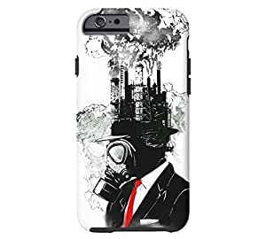 business man iPhone 6 White Tough Phone Case - Design By Humans
