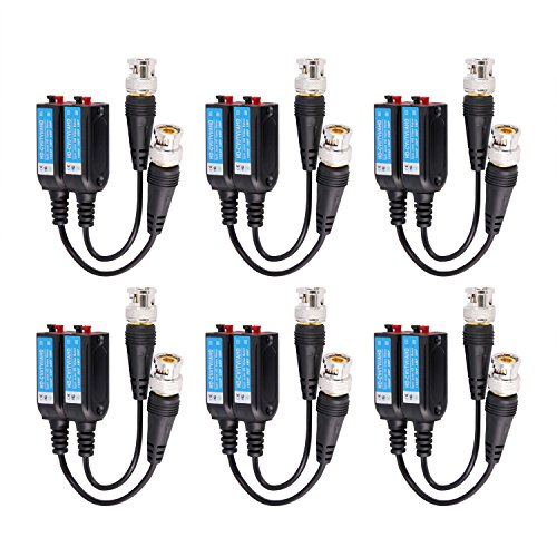 - HD Passive Power and Video Balun/Date&Audio Blun-RJ45 Support CVI/AHD/TVI/Analog/CVBS(6Pairs)