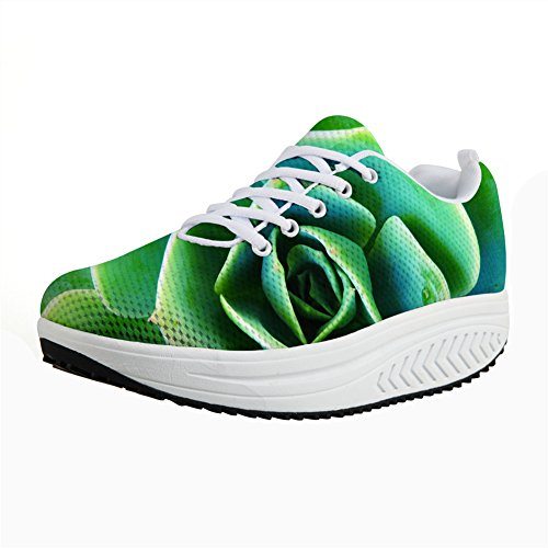 Casual Women's Fitness Walking Sneaker 12 FOR Platform Wedges DESIGNS Floral Floral Shoes Print Vintage U Xqz18xzY