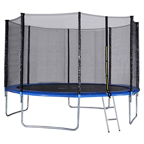 Cheap Giantex Trampoline Combo Bounce Jump Safety Enclosure Net W/Spring Pad Ladder, 12 FT