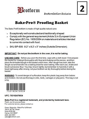 Pack of Two Bake-Pro Brotform 8.25'' Round BP-500 by BAKE-PRO (Image #2)