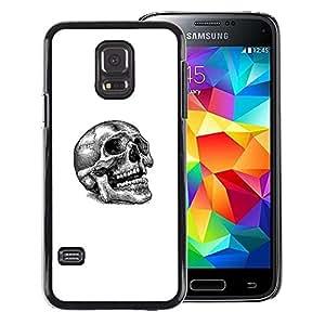 Snap-on Series Teléfono Carcasa Funda Case Caso para Samsung Galaxy S5 Mini, SM-G800 , ( Skull Tattoo )