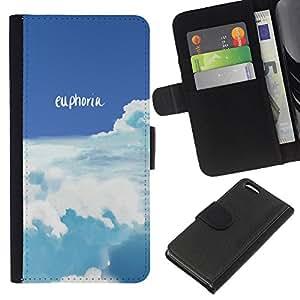LECELL--Cuero de la tarjeta la carpeta del tirón Smartphone Slots Protección Holder For Apple Iphone 5C -- Euforia --