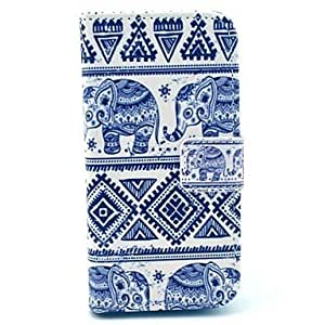 GDW Teléfono Móvil Samsung - Carcasas de Cuerpo Completo/Fundas con Soporte - Gráfico/Diseño Especial - para Samsung S4 Mini I9190 ( Azul , Cuero PU )