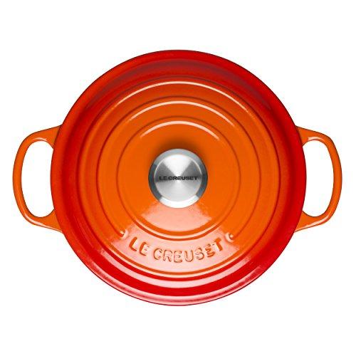 Le Creuset Evolution Cocotte Con Tapa Redonda Todas Las Fuentes De Calor Incl Induccion 33 L Hierro Fundido Naranja Volcanico 22 Cm