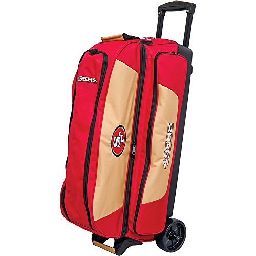 KR Strikeforce San Francisco 49ers Triple Roller Bowling Bag, Multicolor by KR