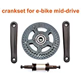 Crankset For Electric Bike Middle Drive Bicycle Chainwheel With Overrunning Clutch Electric Bicycle Mid-drive Freewheel Cranks
