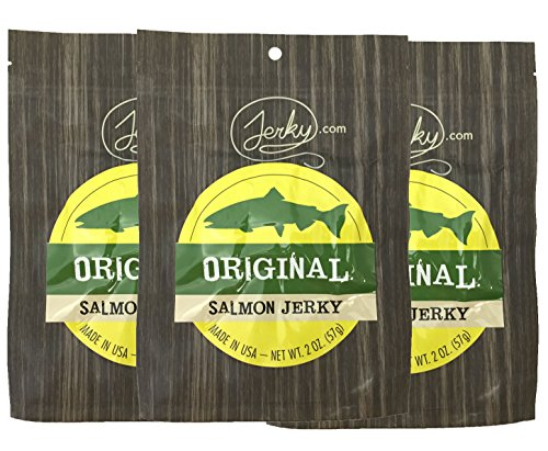 Original All Natural Wild Caught Fresh Salmon Jerky - 3 PACK - The Freshest and Best Salmon Jerky on the Market - 100% Whole Muscle Salmon - No Added Preservatives, No Added Nitrates and No Added MSG - 6 total oz.