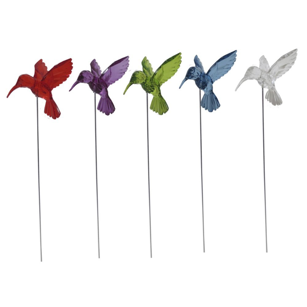 Alpine Corporation Assorted Acrylic Hummingbird Garden Stakes