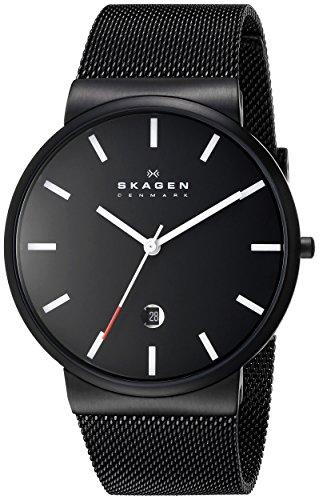 - Skagen Men's SKW6053 Ancher Analog Quartz Black Stainless Steel Watch