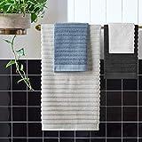 Rivet Chunky Rib Casual Bath Towel, Hand Towel, and