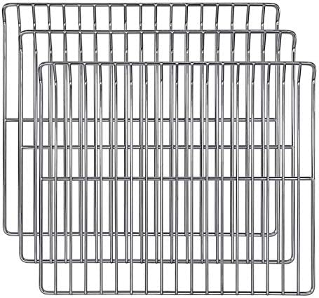 "Hisencn Cooking Grate Cooking Rack Replacement Parts for Masterbuilt 30 Inch Electric Smoker, 14.6"" x 12.2"" Cooking Rack, 3 Pack"