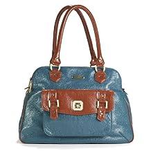 Timi & leslie 1-Pack Sophia Diaper Bag, Aqua Blue/Rust