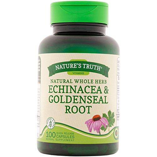 - Nature's Truth Echinacea & Goldenseal Root Plus 100 Capsules