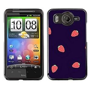 TopCaseStore / la caja del caucho duro de la cubierta de protección de la piel - Berries Purple Red - HTC G10