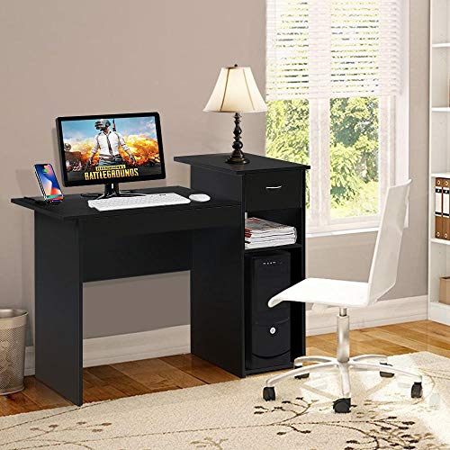 Amazon.com: Yaheetech Compact Computer Desk with Drawer