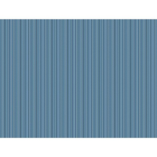 C7610 Waverly Classics II Cozy up Stripe Removable Wallpaper, Blues (Strie Stripe)