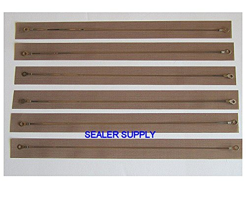 6 Service Kits - Wire heat elements for 8'' Hand Impulse sealer PLUS SIX FREE Teflon PTFE Covers by Sealer Supply (Image #2)