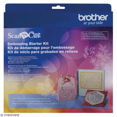 BROTHER Scan N Cut Embossing Tools, 10 x 10 x 5cm, Colourless