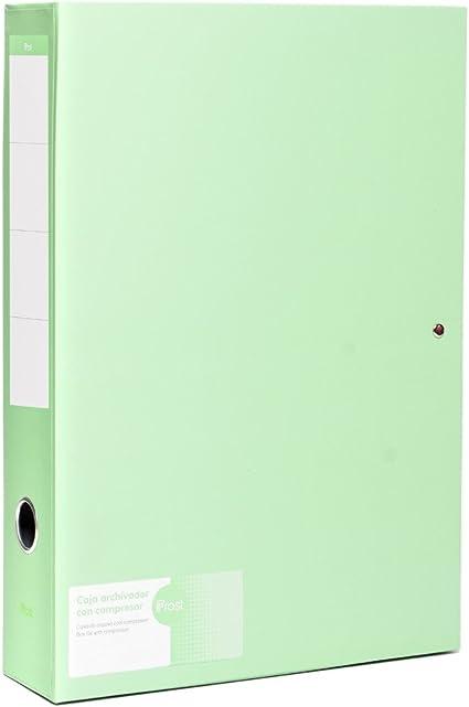 Caja Archivo con compresor FROST para folio o A4 verde menta: Amazon.es: Oficina y papelería