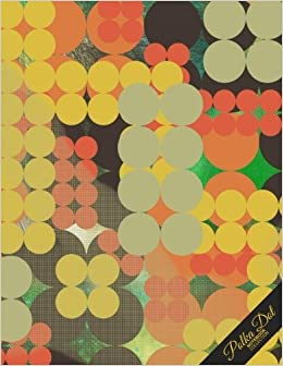 Book Polka Dot Notebook: Abstract Pattern Polka Dot Journal/Diary, Wide Ruled, 100 Pages, 8.5 x 11