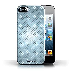 KOBALT? Protective Hard Back Phone Case / Cover for Apple iPhone 5/5S | Blue Design | Embossed Metal Effect Collection