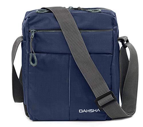 DAHSHA Nylon Padded Cross Body Messenger Sling Bag Travel Office Business Messenger one Side Shoulder Bag for Men Women