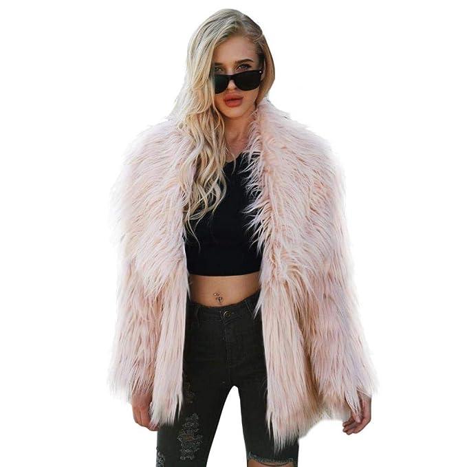 Mujer Otoño Invierno Moda Faux Collar Faux Fur Abrigo de Piel sintética Chaqueta Caliente Short Prendas de Vestir Exteriores para la Fiesta y Todos los ...