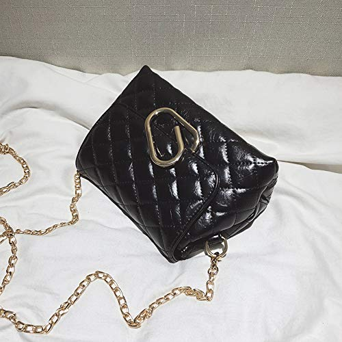 WSLMHH Noir Super chaîne Sac de bandoulière feu Sac Femme à Fille Sauvage Messenger Mode Sac Lingge personnalité marée Sac wx4Aw