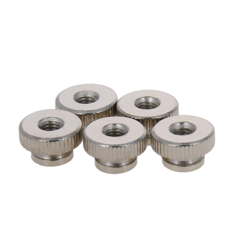 MroMax 20PCS Thumb Nut M4 Thread Round Knobs Zinc Plating Commonly Use for 3D Printers Parts