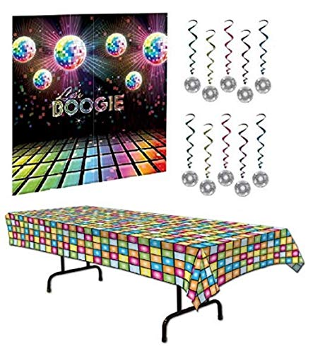 70s Party Decorations Pack - Disco Ball Whirls